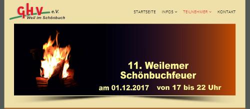 Homepage Schönbuchfeuer